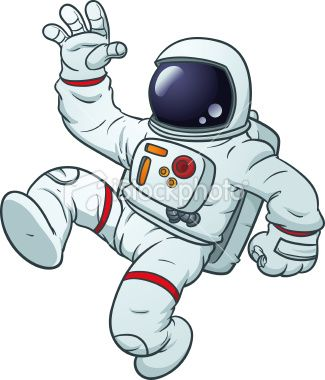 Astronaot clipart jpg stock Cartoon astronaut floating. Vector illustration with simple ... jpg stock