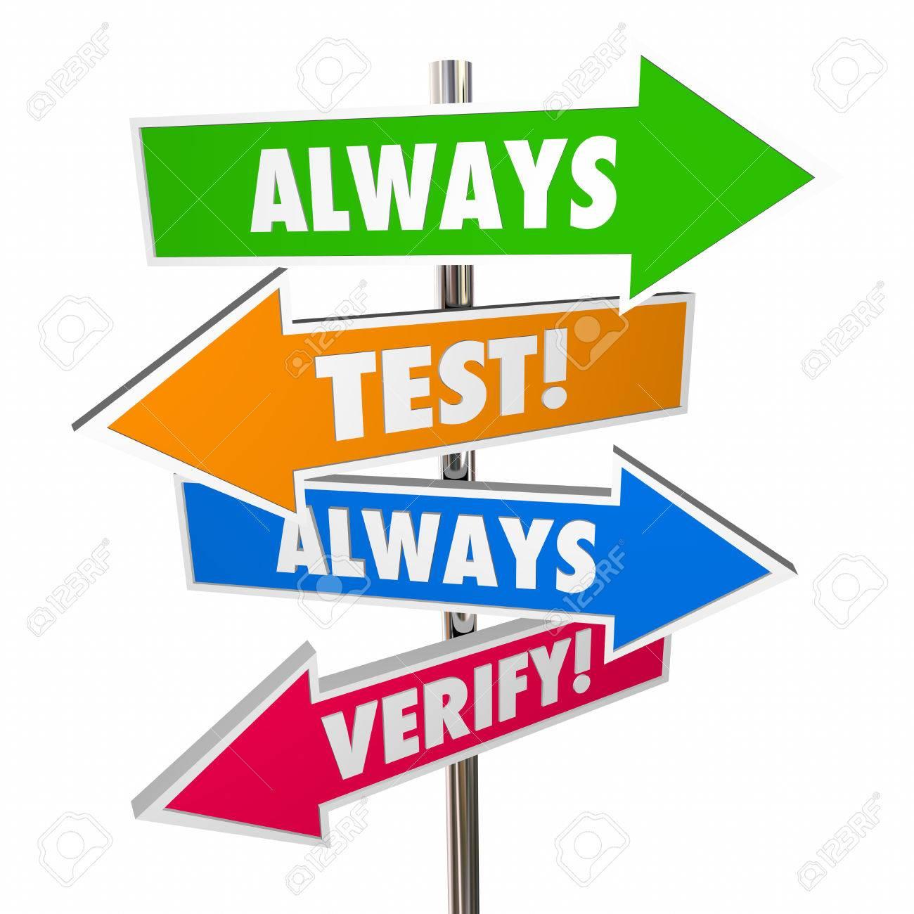 Assumptios clipart banner stock Always Test Verify Assumptions Hypothesis Theory Signs 3D » Clipart ... banner stock