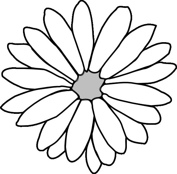 Aster flower clipart banner Flower Outline Clip Art at Clker.com - vector clip art online ... banner
