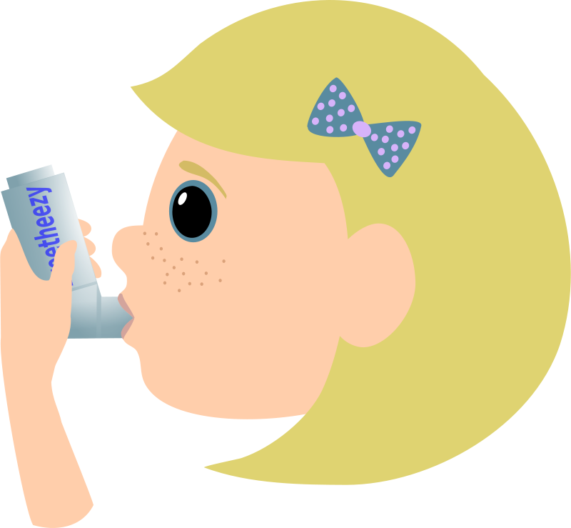 Asthma treatment clipart picture library download Free Clipart: Girl with asthma spray | Moini picture library download