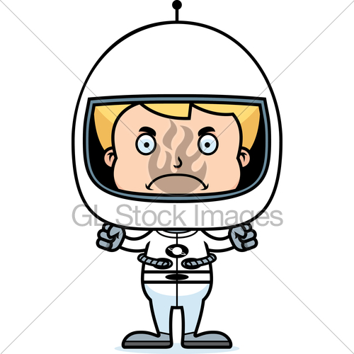 Astronaut clipart angry clipart free download Cartoon Angry Astronaut Boy · GL Stock Images clipart free download