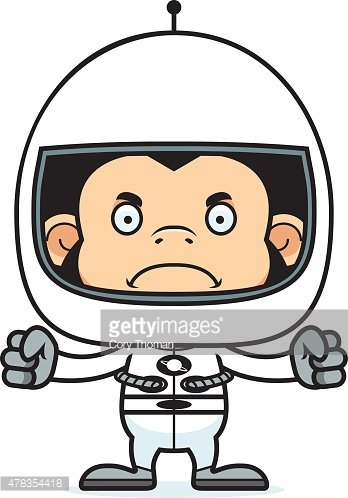 Astronaut clipart angry clip black and white download Cartoon Angry Astronaut Chimpanzee premium clipart - ClipartLogo.com clip black and white download