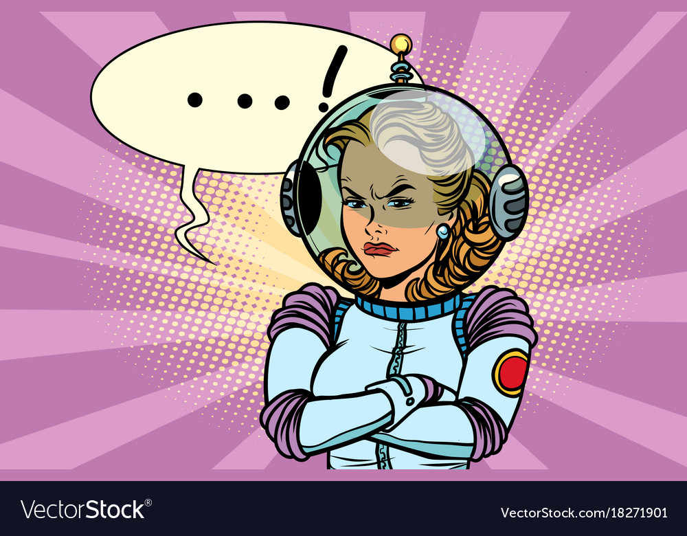 Astronaut clipart angry clipart freeuse download Comic of angry woman astronaut clipart freeuse download