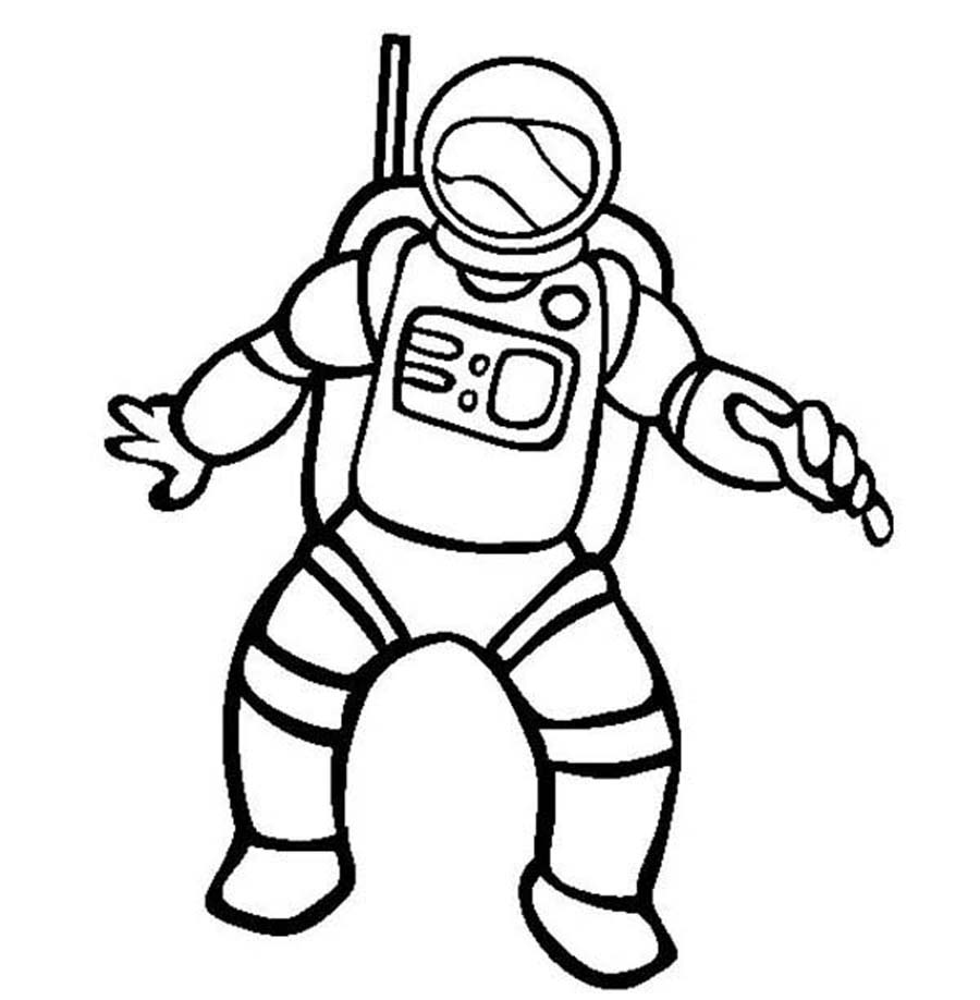 Astronaut clipart coloring realistic banner download Astronaut Clipart Black And White | Free download best Astronaut ... banner download