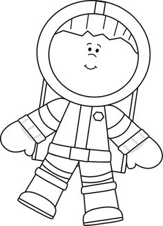 Astronaut clipart black and white image black and white download Space Clipart Black And White & Look At Clip Art Images - ClipartLook image black and white download