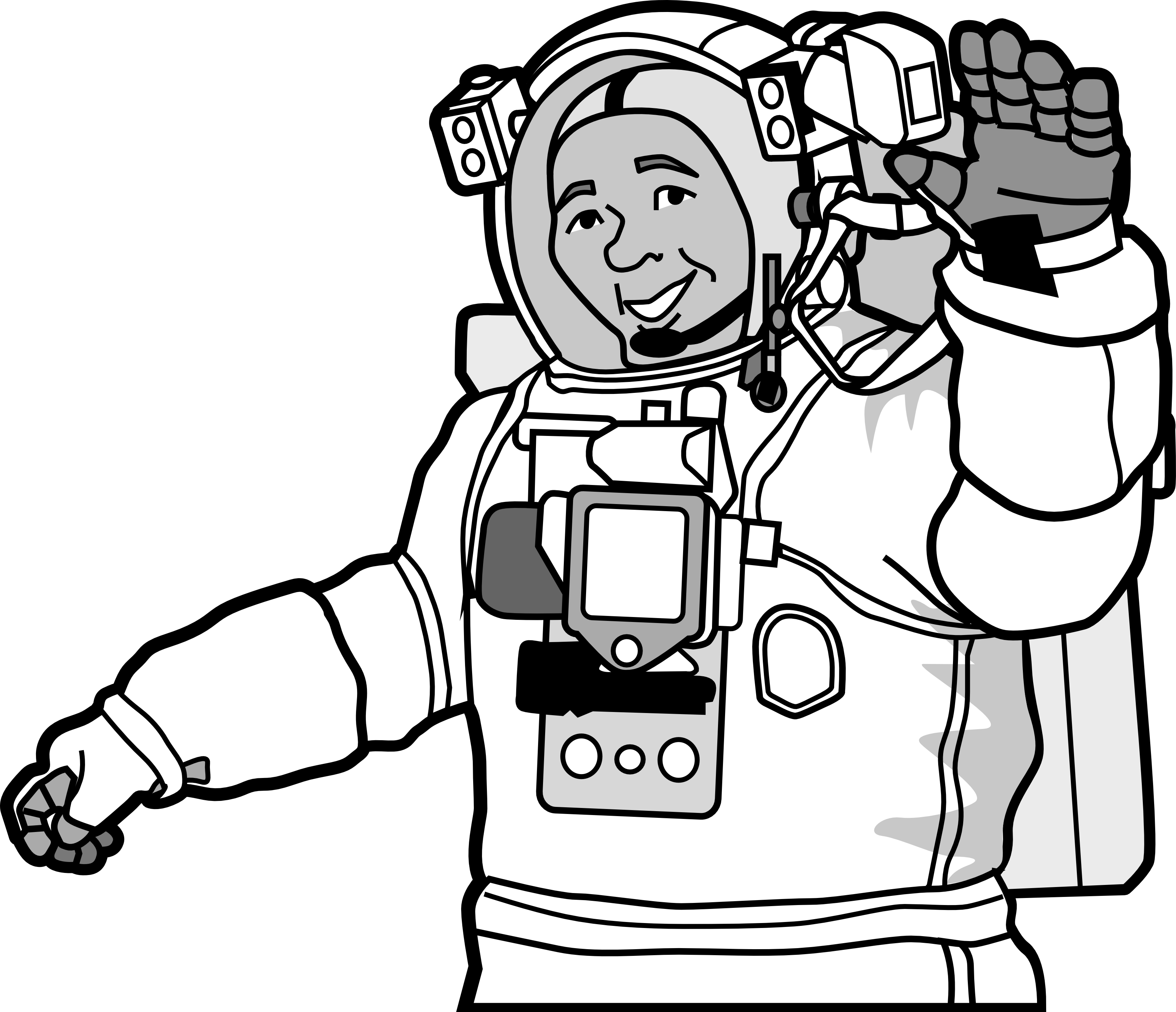 Astronaut clipart black and white clip art transparent library Free Astronaut Clipart Black And White, Download Free Clip Art, Free ... clip art transparent library