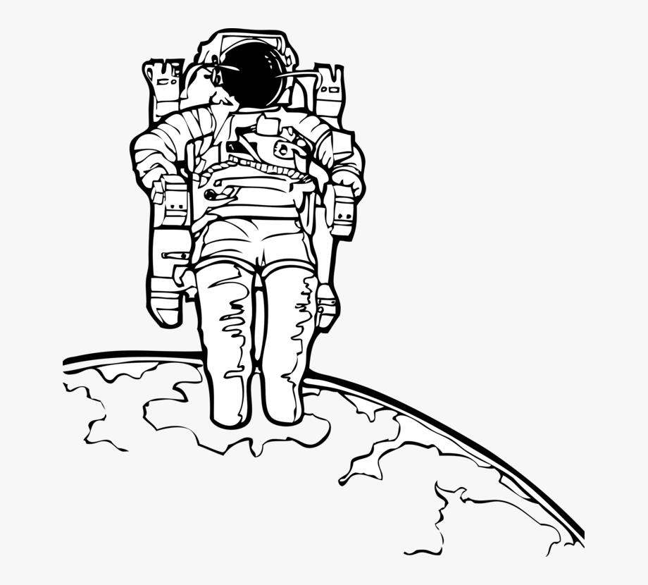 Astronaut clipart coloring realistic svg royalty free stock Astronaut Outer Space Coloring Book Suit Free - Astronaut Clipart ... svg royalty free stock