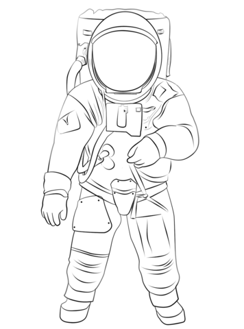 Astronaut clipart coloring realistic clipart royalty free Buzz Aldrin on the Moon coloring page | Free Printable Coloring Pages clipart royalty free