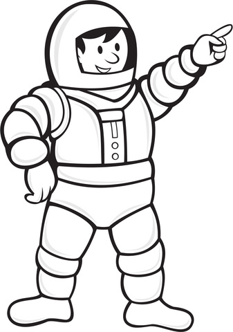 Astronaut clipart coloring realistic clip royalty free library Astronaut in a space suit coloring page | Free Printable Coloring Pages clip royalty free library