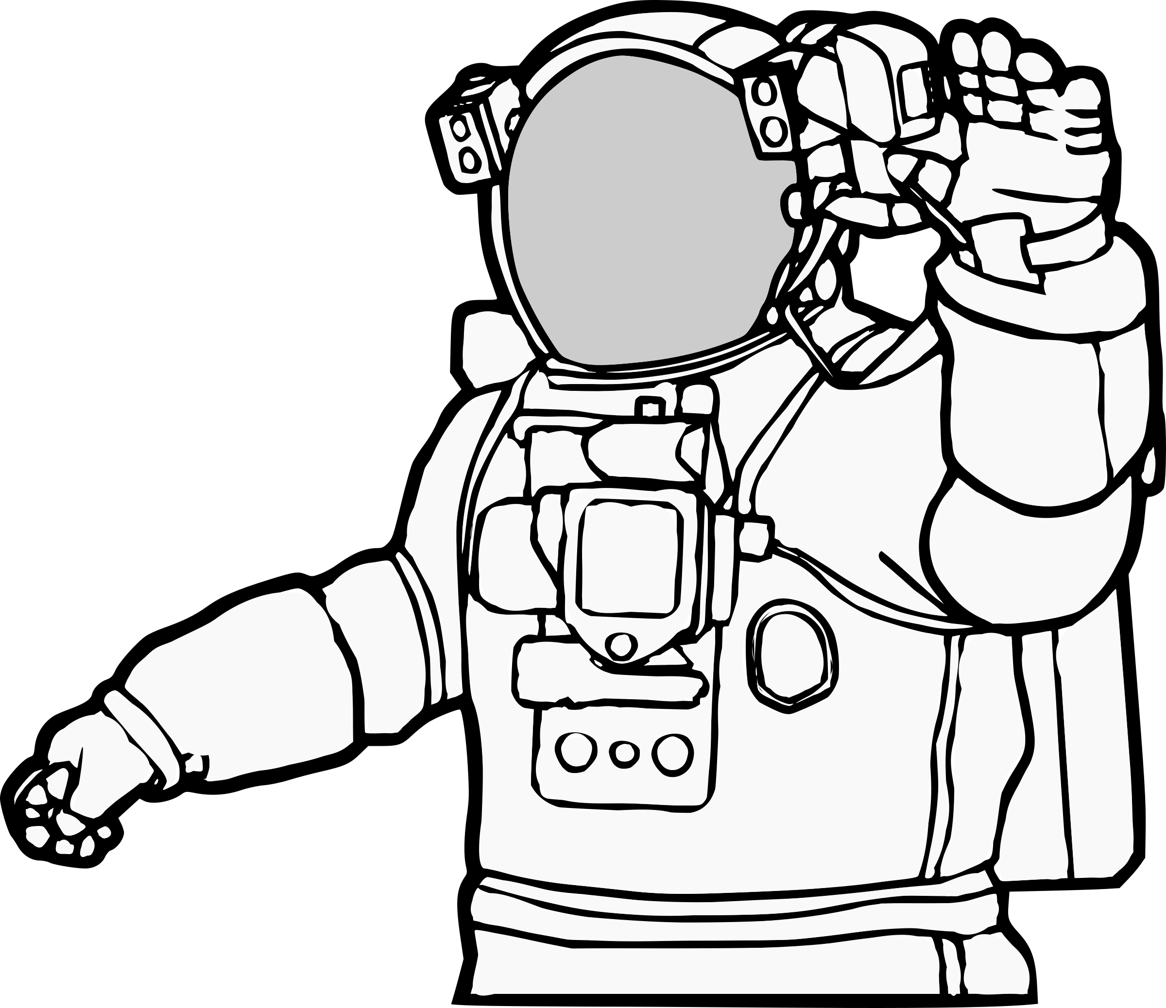 Astronaut clipart coloring realistic png HD Astronaut - Realistic Astronaut Clip Art , Free Unlimited ... png