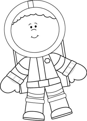 Clipart outer space neat black and white banner library Black and White Little Boy Astronaut | Space theme | Space theme ... banner library