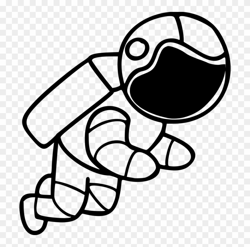Astronaut clipart white and black jpg freeuse Astronaut Outer Space Line Art Cartoon Space Suit - Astronaut ... jpg freeuse
