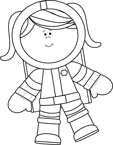 Astronaut clipart white and black vector royalty free library Space Clipart Black And White & Look At Clip Art Images - ClipartLook vector royalty free library