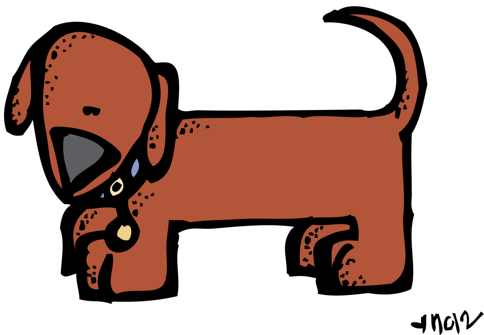 Reading dog clipart clipart royalty free MelonHeadz: A request from Jennifer clipart royalty free