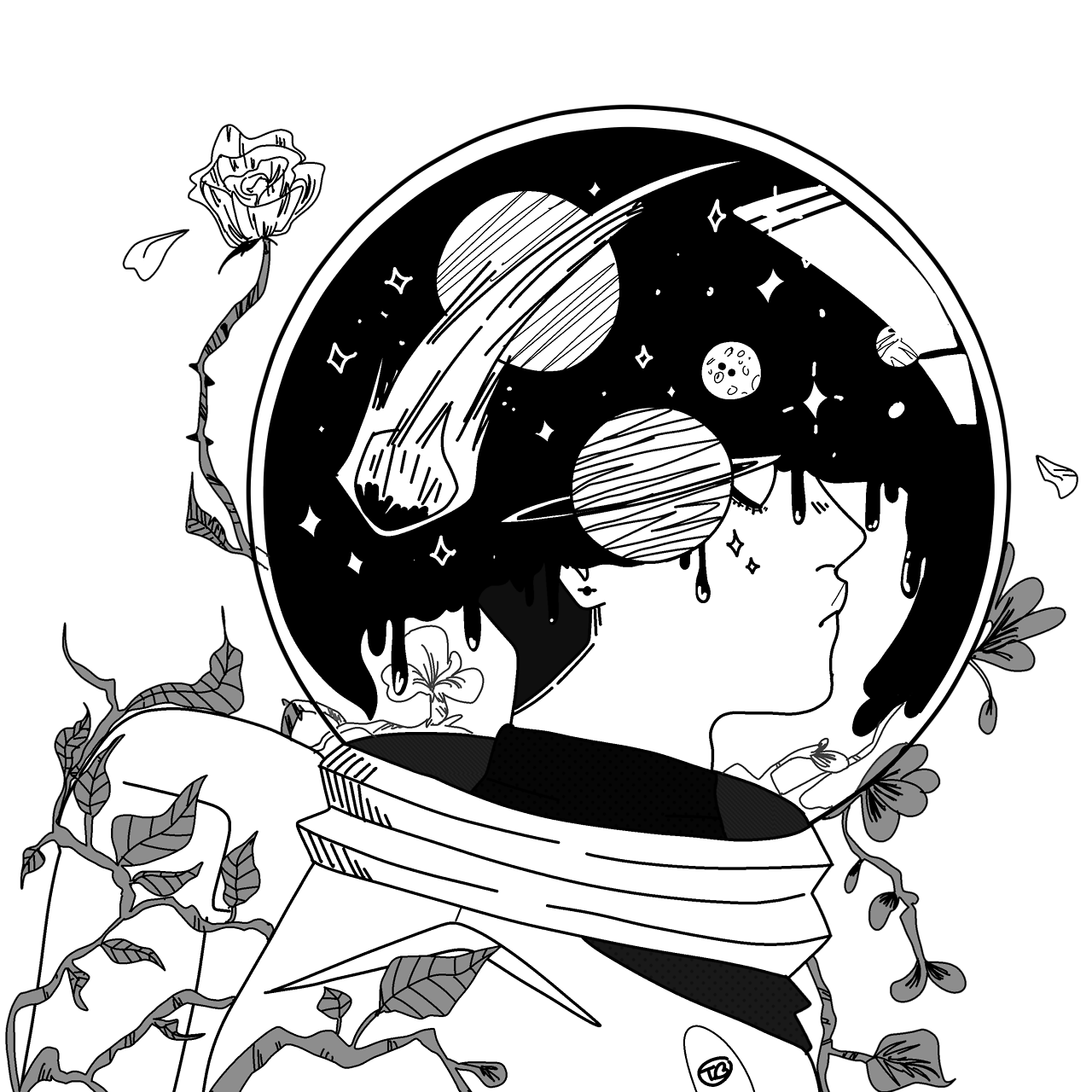 Space drawing clipart