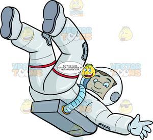 Astronaut gravity clipart clip art A Male Astronaut Lets Himself Drift In Space clip art