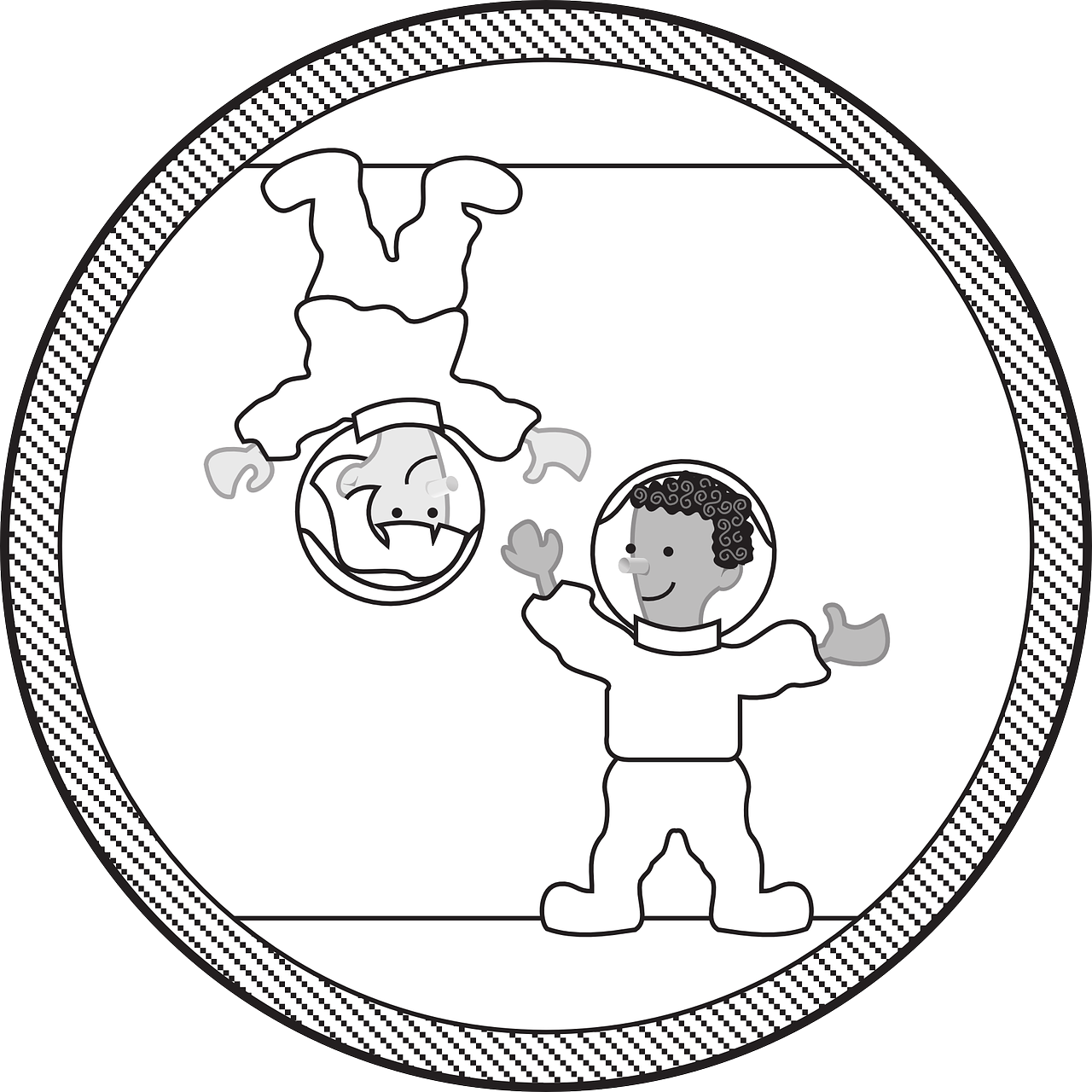 Astronaut gravity clipart black and white library Astronaut,zero gravity,gravity-less,space-walk,free vector graphics ... black and white library