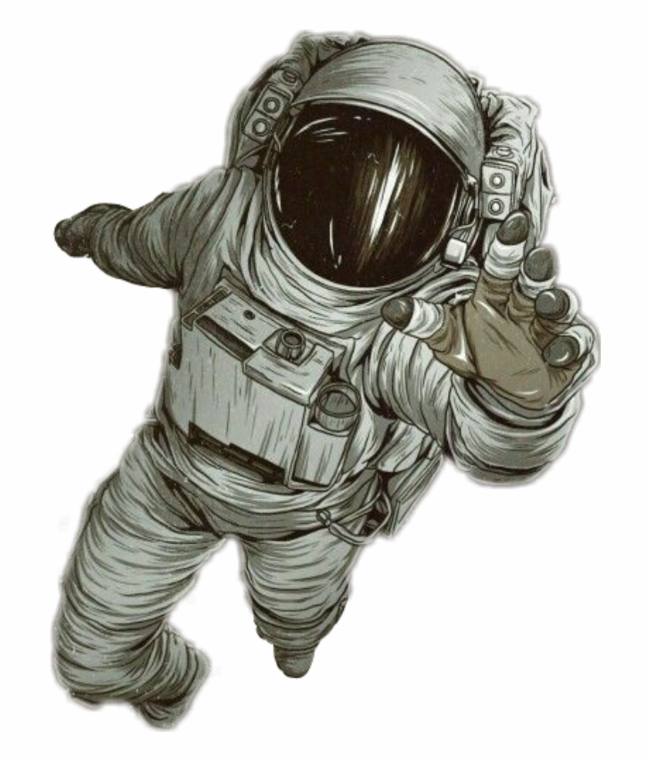 Astronaut gravity clipart picture black and white download astronaut #space #gravity #spaceman - Realistic Drawing Of Astronaut ... picture black and white download