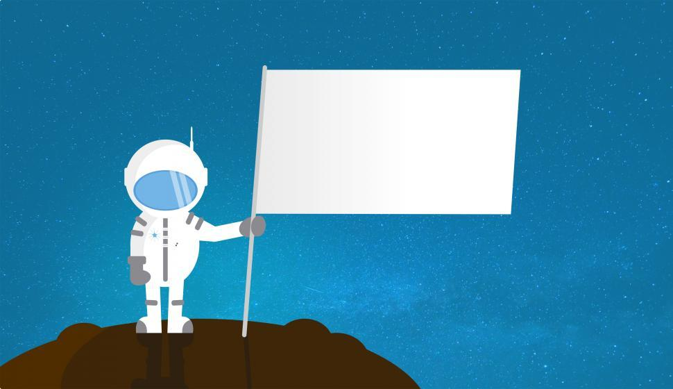 Astronaut holding flag clipart library Get Free Stock Photos of Cartoon Astronaut Holding Blank Flag - With ... library