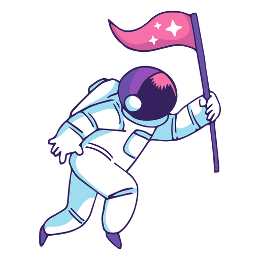 Astronaut holding flag clipart clip art royalty free Astronaut holding flag cartoon - Transparent PNG & SVG vector clip art royalty free