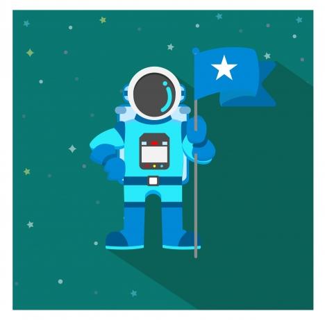Astronaut holding flag clipart svg transparent download Space astronaut holding flag vector illustration vectors stock in ... svg transparent download