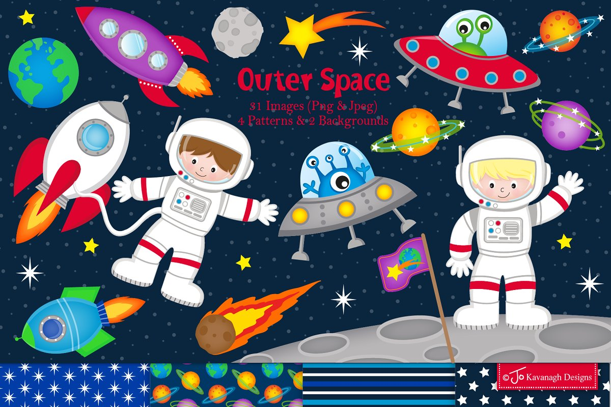 Astronaut in space clipart background graphic free library Space clipart, Astronauts -C21 graphic free library