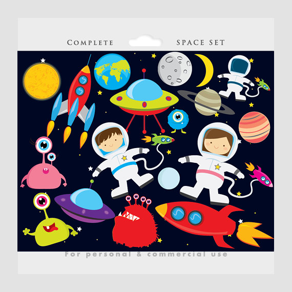 Astronaut in space clipart background vector free Space clipart - astronaut clip art, UFOs, aliens, spaceships ... vector free