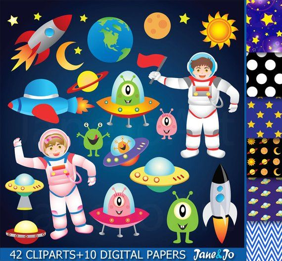 Astronaut in space clipart background clip black and white stock 42 Space clipart , Outer Space Clipart , Astronauts clipart ,Space ... clip black and white stock