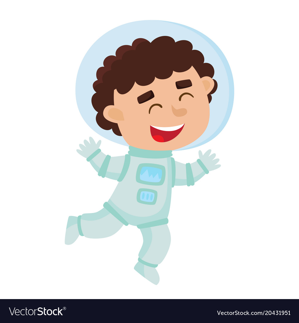 Astronaut kid clipart free png royalty free download Flying astronaut kid isolated on white background png royalty free download