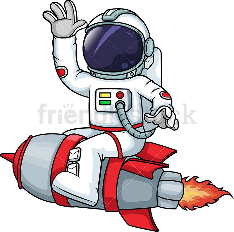 Astronaut vector clipart clip free library Astronaut On A Rocketship | cartoon in 2019 | Astronaut cartoon ... clip free library