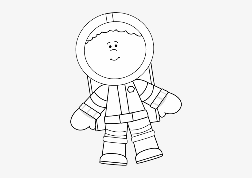 Astronauta clipart black and white