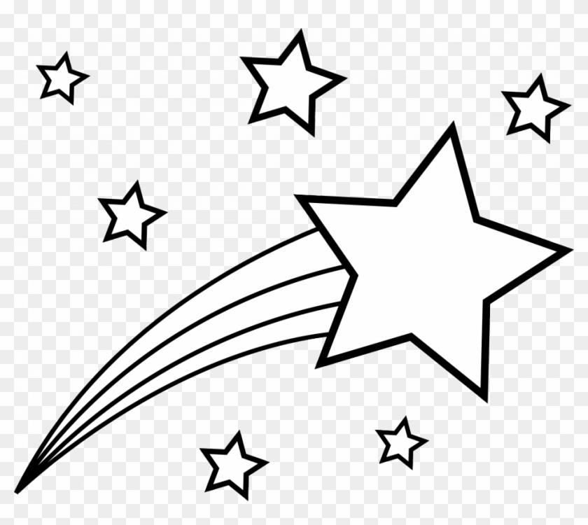 Free shooting star pictures clipart free download Png Royalty Free Stock Clipart Stars Black And White - Shooting Star ... free download