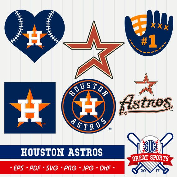 Houston astro clipart transparent stock Cut these designs on your own electronic cutter such as Silhouette ... transparent stock