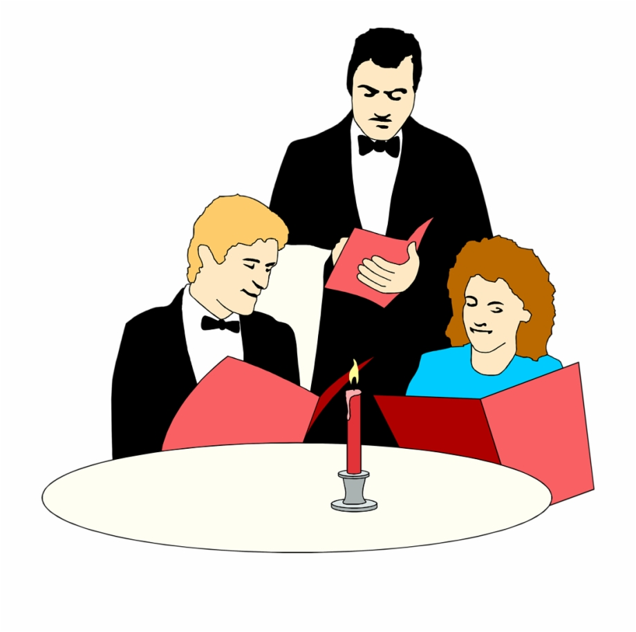At a resturaunt clipart svg library library Server Clipart Restaurant - Restaurant Clipart Free PNG Images ... svg library library