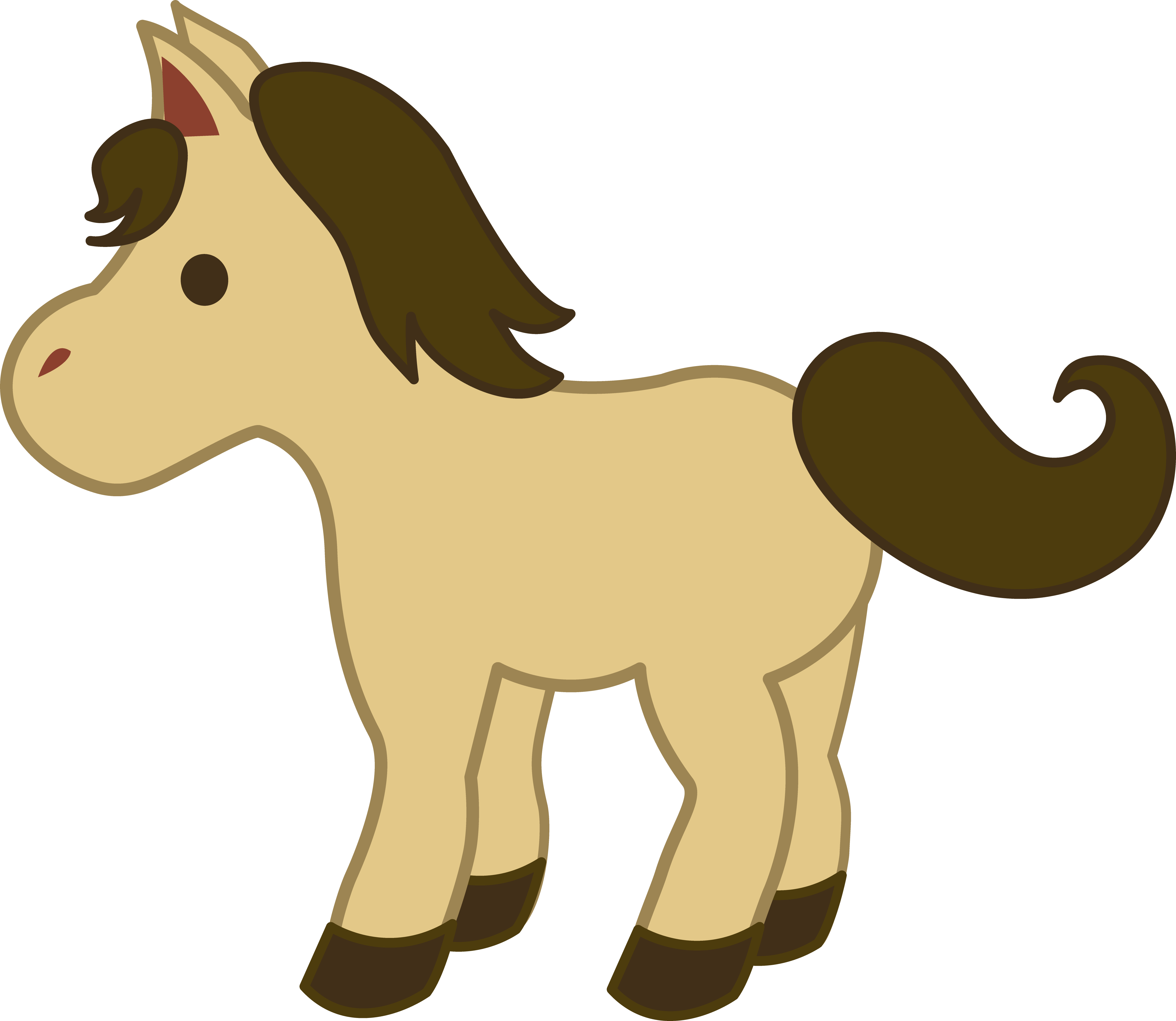 Simple horse clipart