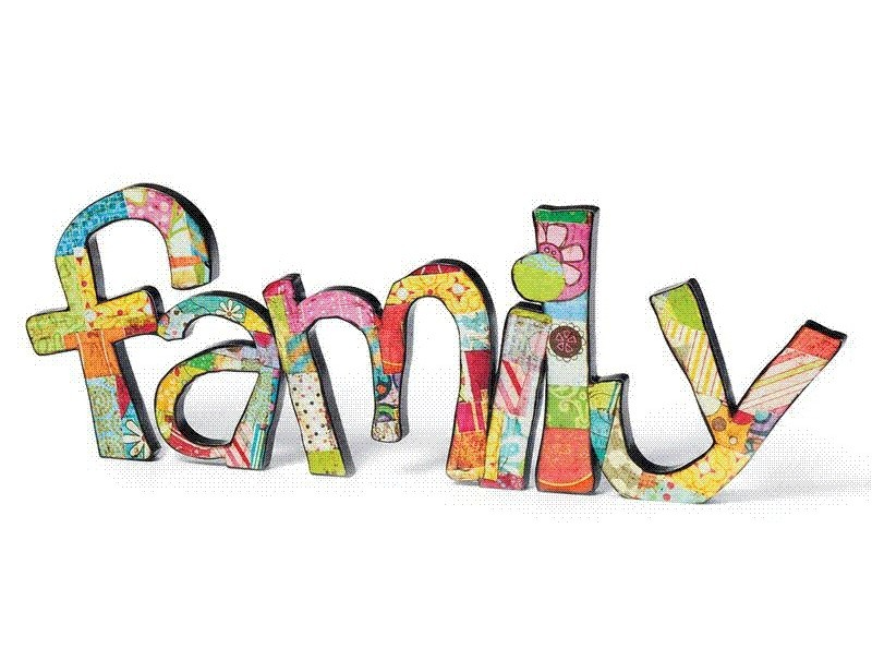 At family words clipart