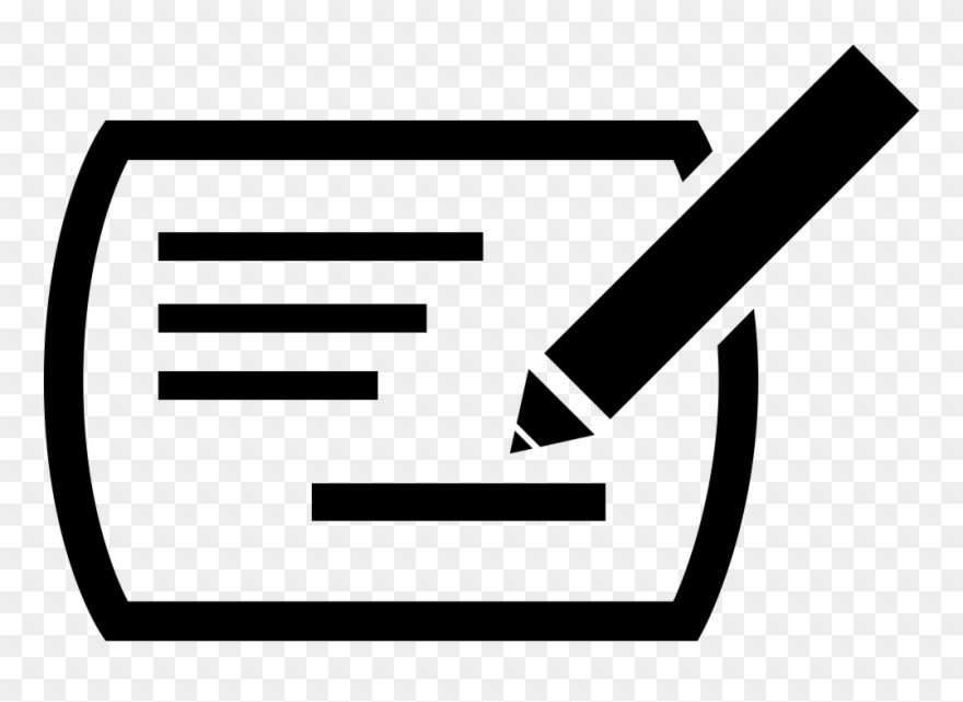 Writing icon clipart