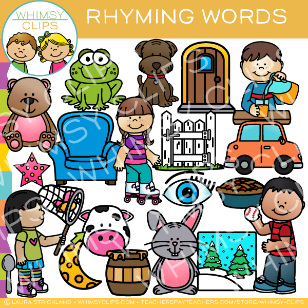 At rhymong words clipart