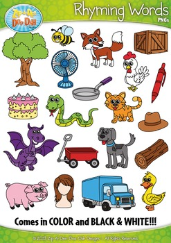 Rhyming clipart picture free library Rhyming Word Clipart {Zip-A-Dee-Doo-Dah Designs} | TpT Wish List ... picture free library