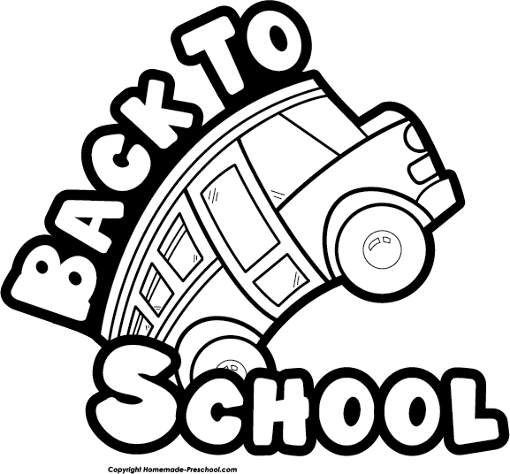 Clipart back to school free clip black and white Free Back to School Clipart clip black and white