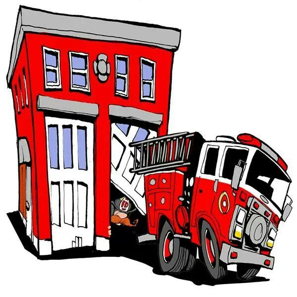 Clipart silhouettefirehouse