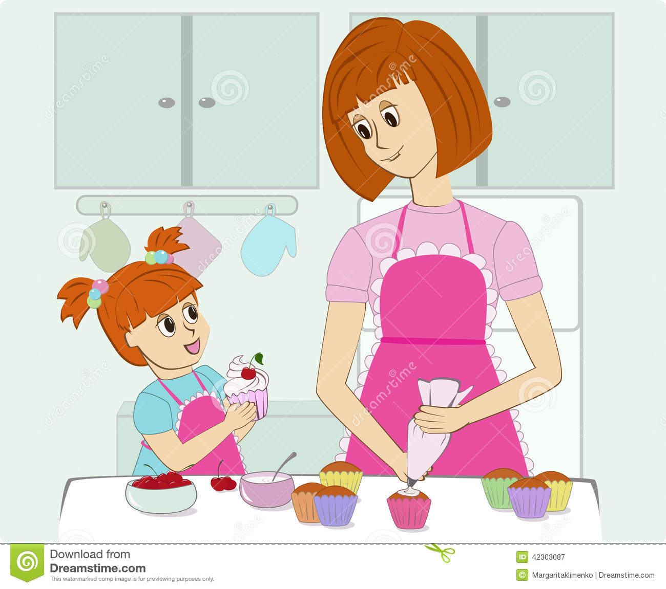 At the kitchen clipart clip art library download Mother cooking in the kitchen clipart 5 » Clipart Station clip art library download