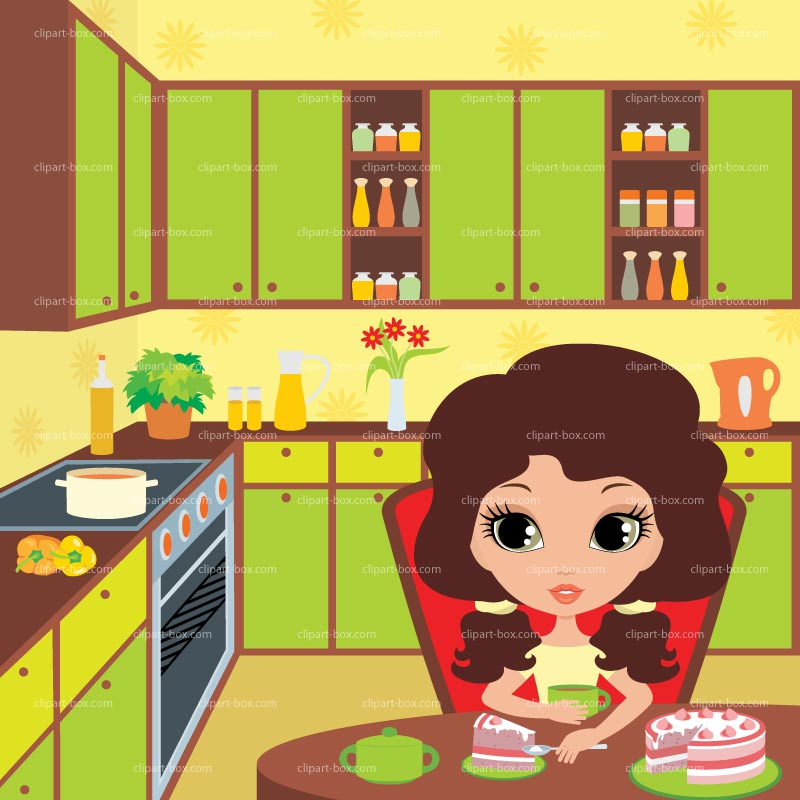 At the kitchen clipart vector library Woman in kitchen clipart clipartfest - WikiClipArt vector library