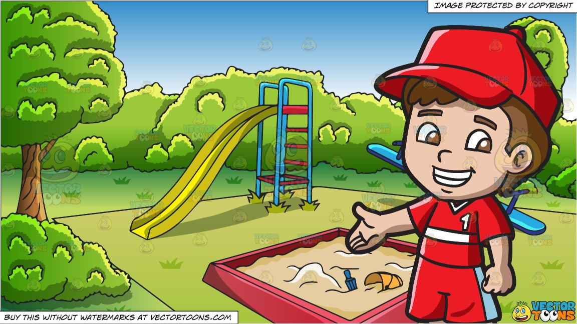 At the little playground clipart clip royalty free library A Friendly Looking Little Boy and An Outdoor Playground Background clip royalty free library