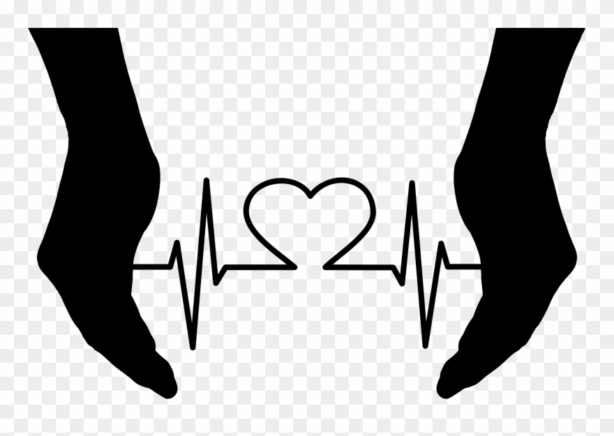 At the rate black clipart jpg download Dynamic Electrocardiography Heart Rate Pulse - Heart In Hands ... jpg download