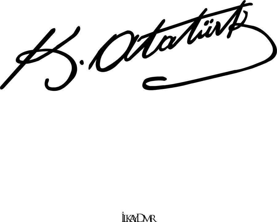 Ataturk imza clipart image freeuse Top 10 Punto Medio Noticias   Mustafa Kemal Atatürk Imzası Vektörel image freeuse