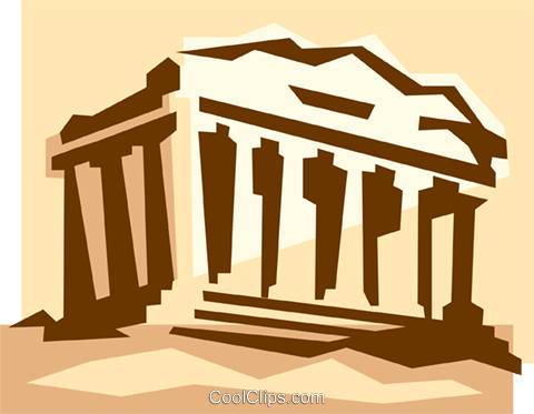 Athens architecture clip clipart clipart library Acropolis in Athens Greece Royalty Free Vector Clip Art illustration ... clipart library