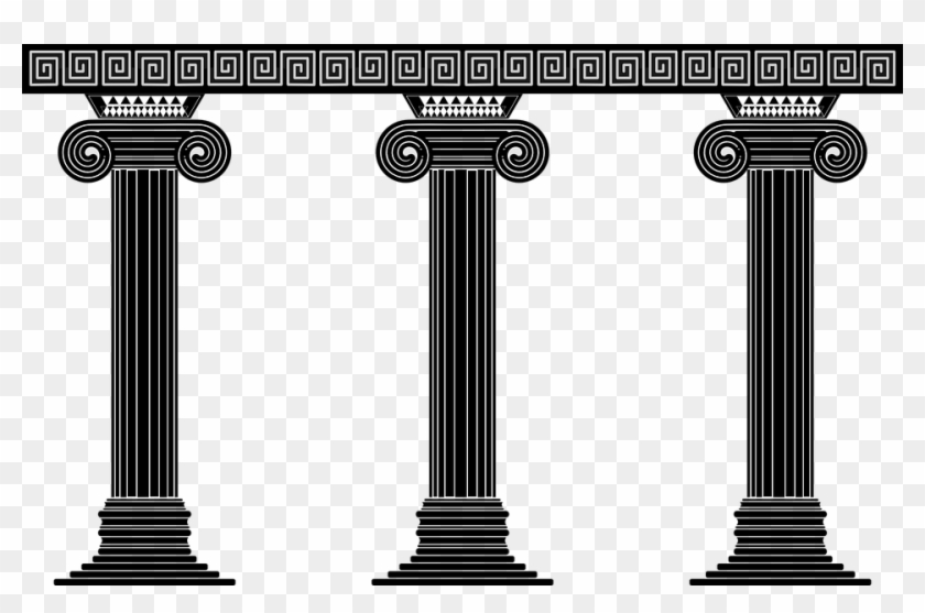 Athens greece clipart black and white clipart freeuse stock Greece Clipart Greek - Greek Pillars Clip Art, HD Png Download ... clipart freeuse stock