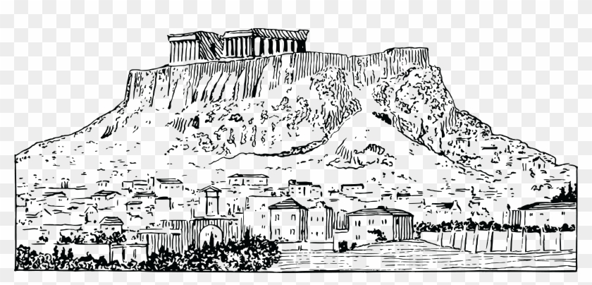 Athens greece clipart black and white vector black and white Free Clipart Of Athens Greece - Greece Clipart Black And White, HD ... vector black and white