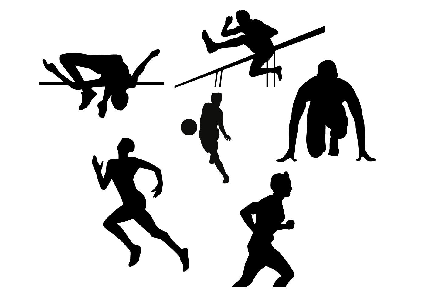 Athlete clipart silhouette png transparent HD Running Athlete Silhouette Design » Free Vector Art, Images ... png transparent